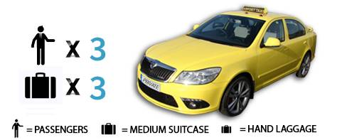 Book online taxi up to 3 passengers